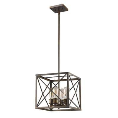 Brooklyn Indoor 4-Light Oil Rubbed Bronze Pendant
