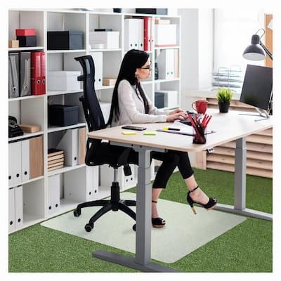 """Ecotex® Polypropylene Rectangular Chair Mat for Carpets - 29"""" x 46"""""""