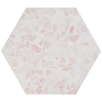 Fusion Hex Pink Terrazzo 9.13 in. x 10.51 in. Matte Porcelain Floor and Wall Tile (8.07 sq.ft. / Case)
