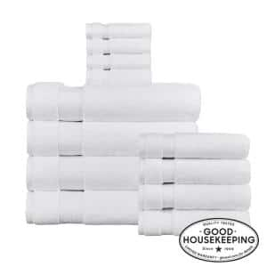 Egyptian Cotton 12-Piece Bath Sheet Towel Set in White