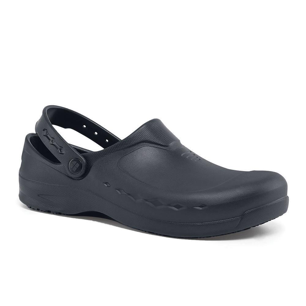 Froggz 66064 Kitchen Work Shoes Service Black Shoes for Crews Clogs Zinc