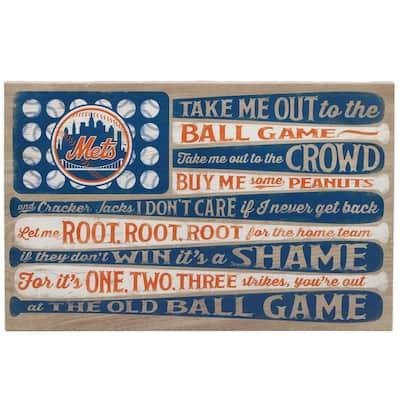 New York Mets Canvas Flag Wall Art