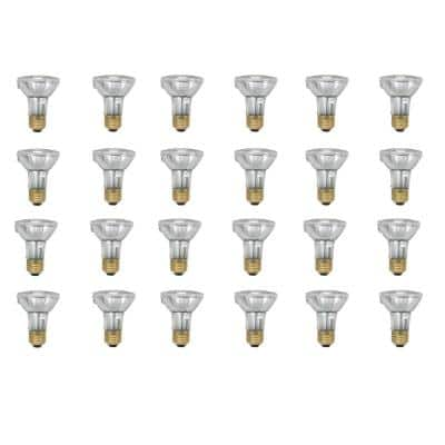 50-Watt PAR20 Equivalent Halogen Indoor/Outdoor Flood Light Bulb (24-Pack)