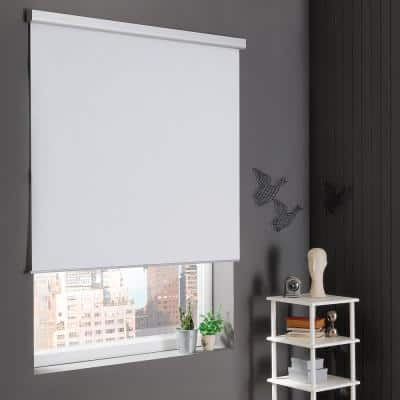 White Cordless Stain Resistant Blackout Roller Shades 37 in. W x 72 in. L