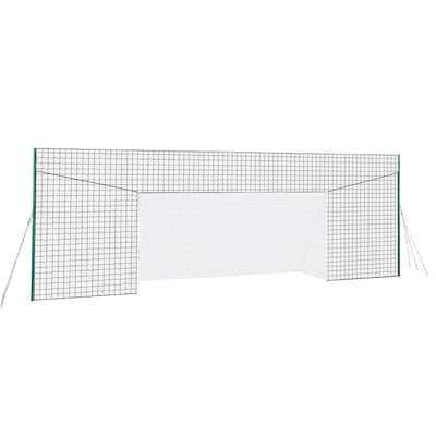 JX-OGFL2 Soccer Practice Net Rebounder Backstop with Goal, Large