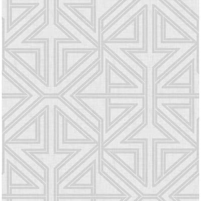 Kachel Grey Geometric Strippable Non Woven Wallpaper