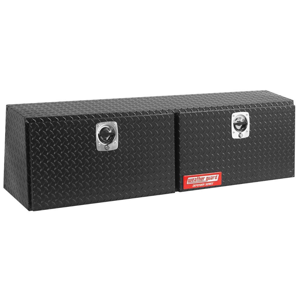 60.13 Matte Black Aluminum Full Size Top Mount Truck Tool Box