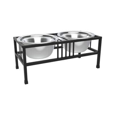 40 oz. Stainless Steel Elevated Pet Bowls with Nonslip Stand