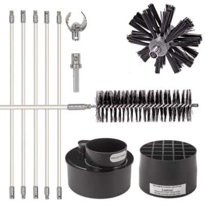 Lint Wizard Large Duct Dryer Vent Cleaning Kit