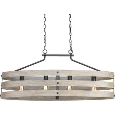 Gulliver Collection 4-Light Graphite Coastal Linear Chandelier Light
