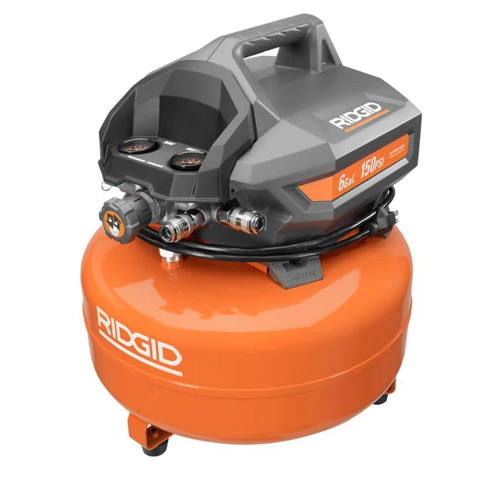 RIDGID 6 Gal.便携式电动煎饼空气压缩机