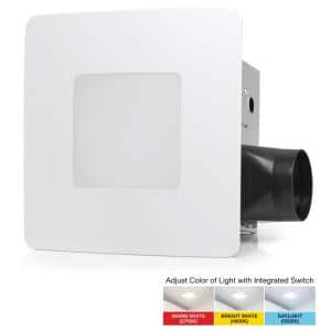 110 CFM Easy Installation Bathroom Exhaust Fan with Adjustable LED Lighting