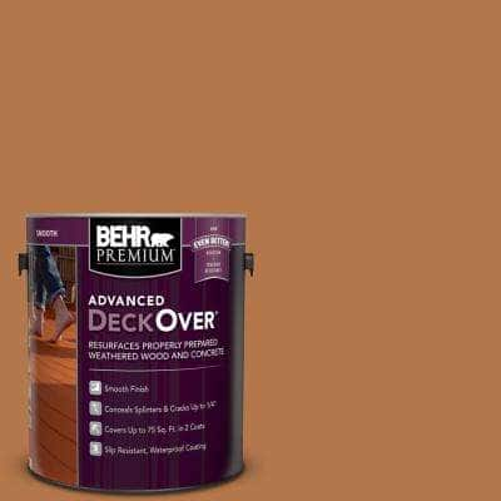 1 gal. #SC-533 Cedar Naturaltone Smooth Solid Color Exterior Wood and Concrete Coating
