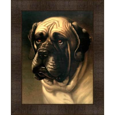 Portrait of Ilford Caution Framed Giclee Dog Art Print 17 in. x 21 in.
