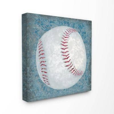 """17 in. x 17 in. """"Grunge Sports Equipment Baseball"""" by Studio W Printed Canvas Wall Art"""