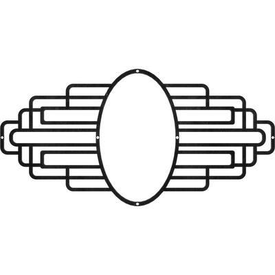 3/16 in. x 16 in. x 8 in. Elizabeth Metal Pierced Ceiling Medallion