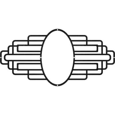 1/8 in. x 28 in. x 14 in. Elizabeth Metal Pierced Ceiling Medallion