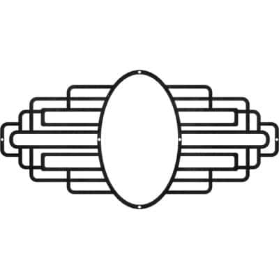 1/4 in. x 28 in. x 14 in. Elizabeth Metal Pierced Ceiling Medallion