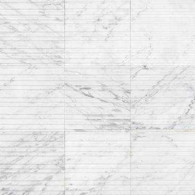 Michael Habachy Bars Carrara 8 in. x 8 in. Limestone Wall Tile (2.15 sq. ft./Case)