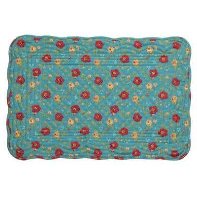 Country Fresh 19 in. x 13 in. Cotton Multi Quilted Placemat (Set of 4)