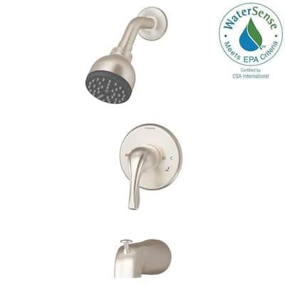 Origins Temptrol Single-Handle 1-Spray Tub and Shower Faucet in Satin Nickel (Valve Included)