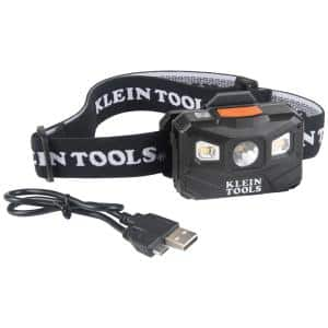 400 Lumens All-Day Runtime Rechargeable Headlamp with Fabric Strap