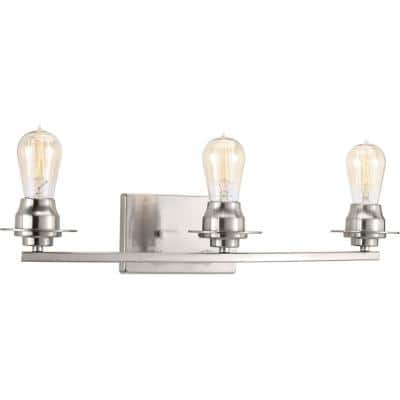 Debut Collection 3-Light Brushed Nickel Farmhouse Bath Vanity Light