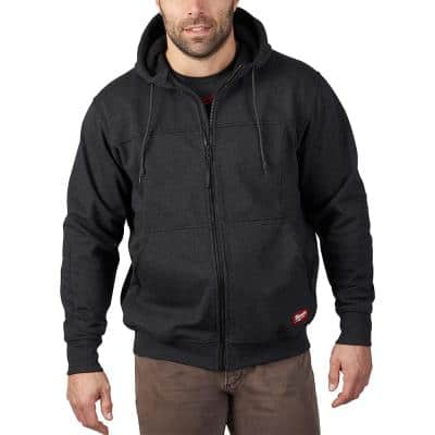 Men's Large Black No Days Off Hooded Sweatshirt