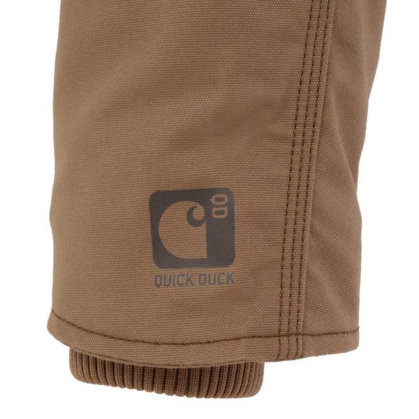 Carhartt Men S Regular Medium Canyon Brown Cotton Polyester Full Swing Cryder Jacket 102207 908 The Home Depot