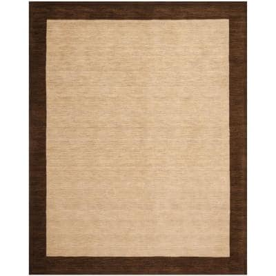 Safavieh Himalaya Beige Dark Brown 4 Ft X 6 Ft Area Rug Him585a 4 The Home Depot