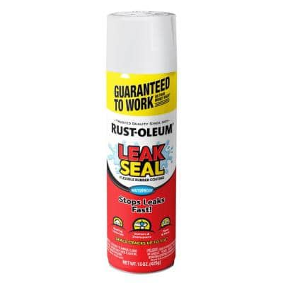 15 oz. LeakSeal White Flexible Rubber Coating Spray Paint (6-Pack)