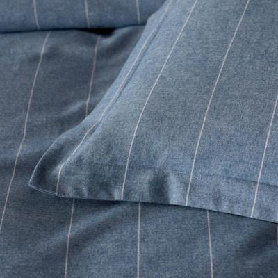 Legends Hotel Bromley Stripes Yarn-Dyed Velvet Denim Cotton Flannel King Sham