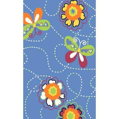 Night Flash Collection Multi Colored 3 ft. x 5 ft. Area Rug