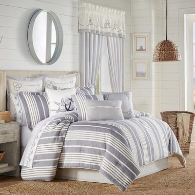 Simona Navy California King 4Pc. Comforter Set