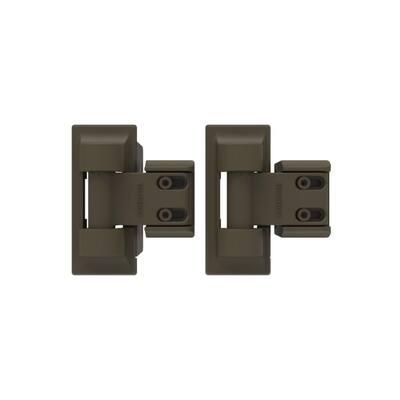 3.4 in. x 8 in. Steel Light Bronze Standard Wrap Hinge (2-Pack)