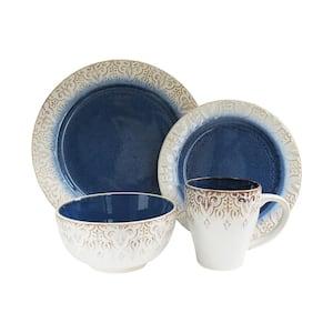 Granada 16-Piece Casual Blue Stone Dinnerware Set (Service for 4)