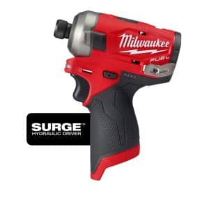 M12 FUEL SURGE 12-Volt Lithium-Ion Brushless Cordless 1/4 in. Hex Impact Driver (Tool-Only)