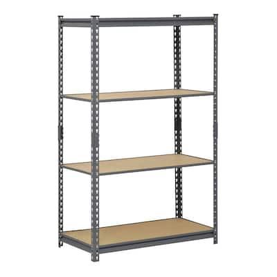 Gray 4-Tier Heavy Duty Steel Garage Storage Shelving (36 in. W x 60 in. H x 18 in. D)