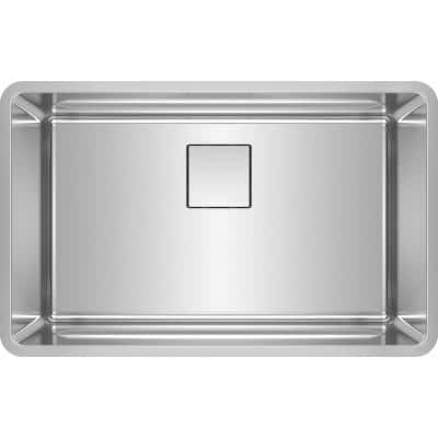 Pescara Undermount Stainless Steel 29.5 in. x 18.5 in. Single Bowl Kitchen Sink