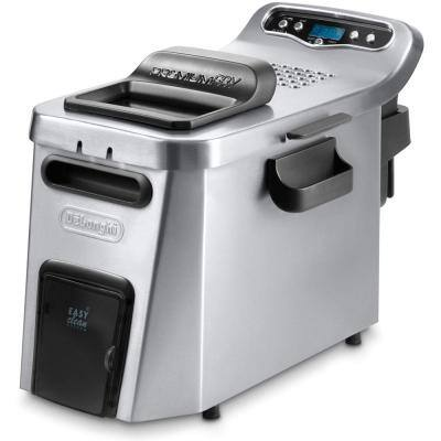 Dual Zone Digital 4L Stainless Steel Deep Fryer with Easy Clean Drain System - D24527DZ