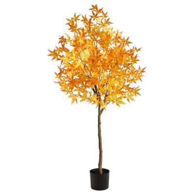 5 ft. Yellow Autumn Maple Artificial Tree
