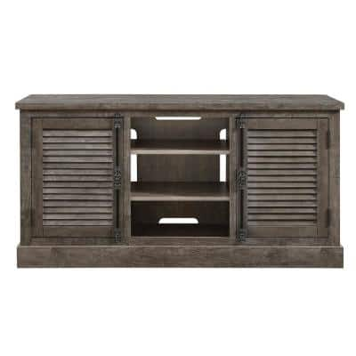 Heathrow 63 in. Gray Particle Board TV Stand Fits TVs Up to 65 in. with Storage Doors