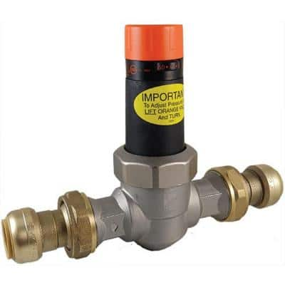 1 in. Bronze EB-25 Double Union Push-to-Connect Pressure Regulating Valve