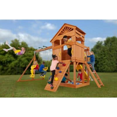 Timber Valley Swingset with Multicolor Accessories-(Choose from 6 Accessory Colors)