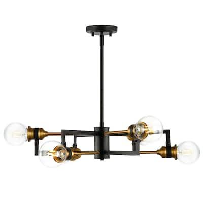 Caprice 6-Light Black/Gold Chandelier