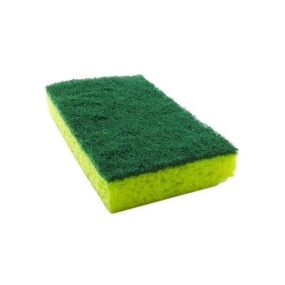 2-3/4 in. x 4-1/2 in. Heavy-Duty Scrub Sponge (3-Pack)