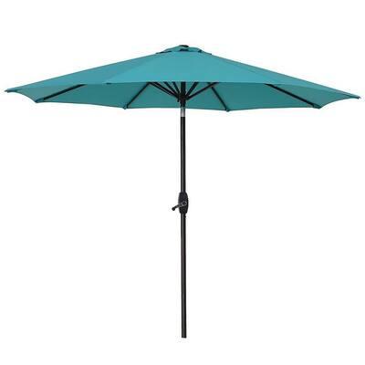 Tristen 9 ft. Aluminum Tilt Patio Umbrella in Turquoise