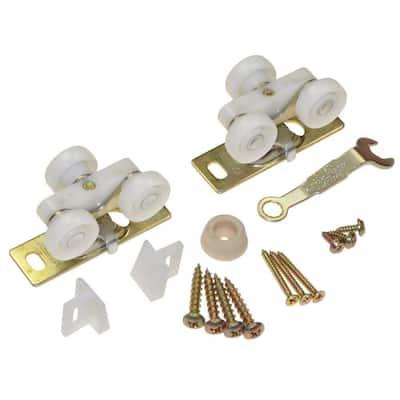 1500 Series Plated Steel Pocket Door Replacement Hardware Set