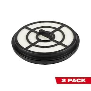 HEPA Filter for Milwaukee M18 FUEL Backpack Vacuum (2-Pack)