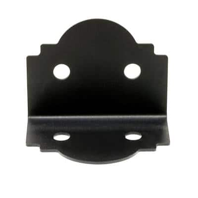Outdoor Accents Mission Collection ZMAX, Black Powder-Coated 90-degree Angle for 6x Lumber